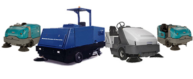 Walk behind Sweeper/Scrubber Combo